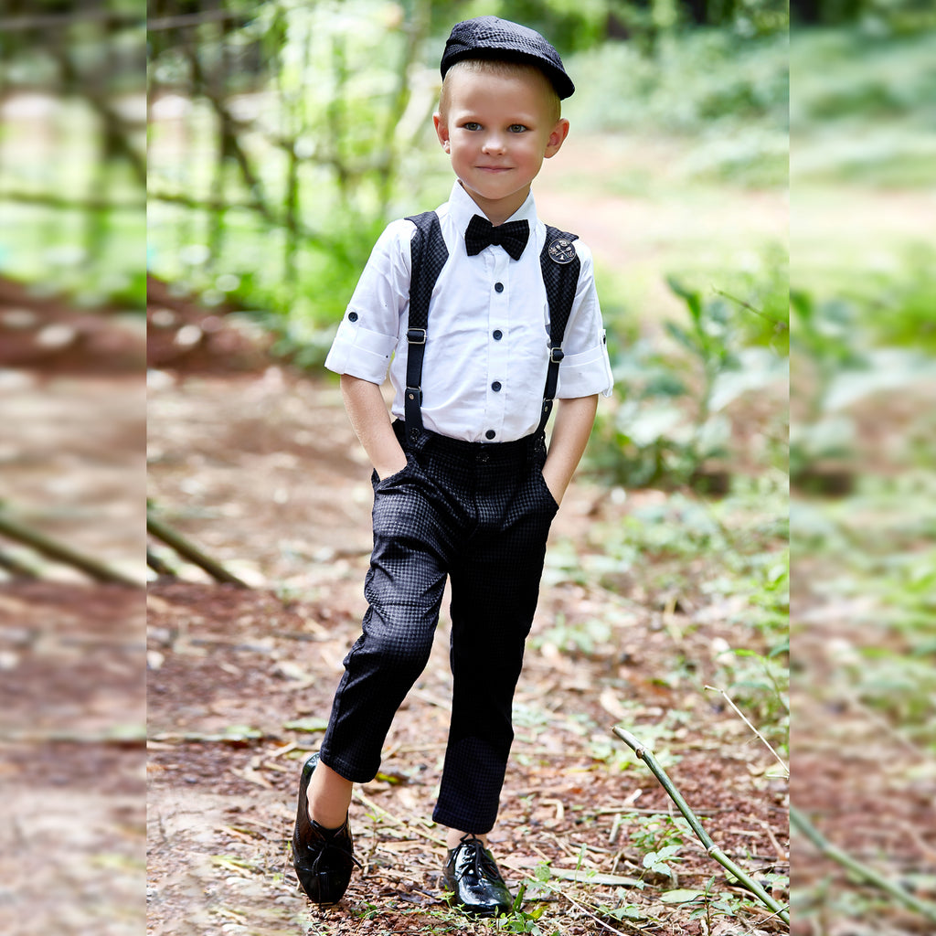 Bad Boys party Outfit with Suspenders and a Bow.