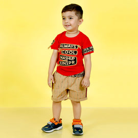 MashUp Junior Fashionable Outfit with Cotton T-shirt and Denim Bottoms