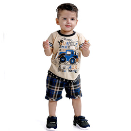 MashUp Junior Casual Wear Outfit with Stylish T-shirt and Shorts