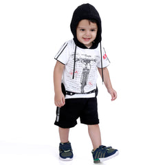 MashUp Junior Party wear Outfit with T-shirt and Dungaree Shorts