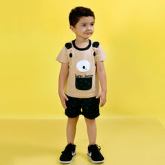 MashUp Junior Stylish Outfit with Cotton Knit T-shirt and Shorts