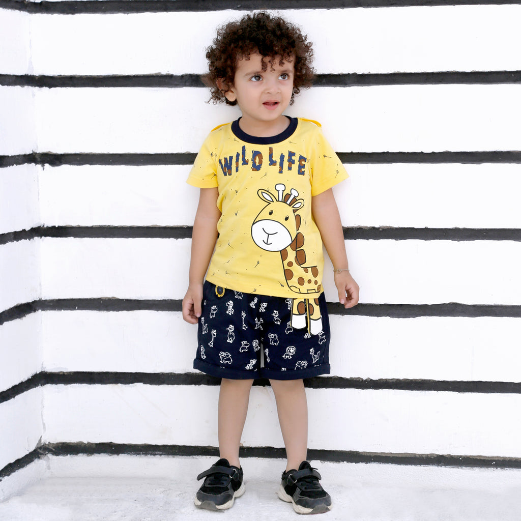 MashUp Junior Stylish and Casual Outfit with T-shirt and Bottoms