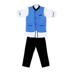 Bad Boys Blue Nehru Jacket With Kurta And Pants - KRAZYLA