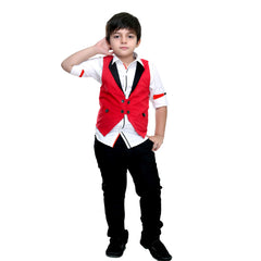 Bad Boys Red Corduroy Waistcoat Set - mashup boys