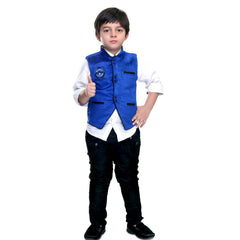 Bad Boys Blue Velvet Nehru Jacket Set - KRAZYLA