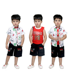 Bad Boys Multicolor Top & Bottom Set - mashup boys