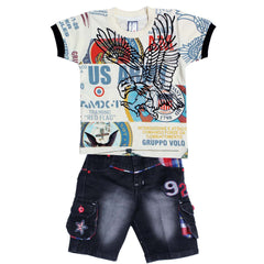 Bad Boys Eagle-print Casual Set - KRAZYLA