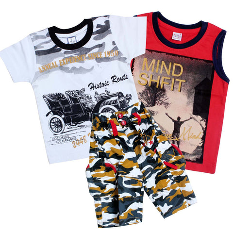 Bad Boys Camou-print Casual Set - Pack of 3 - mashup boys