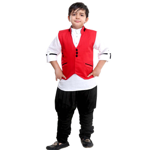 Bad Boys Red Jacket with Kurta & Polo Pants - mashup boys