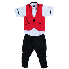Bad Boys Red Jacket with Kurta & Polo Pants - KRAZYLA