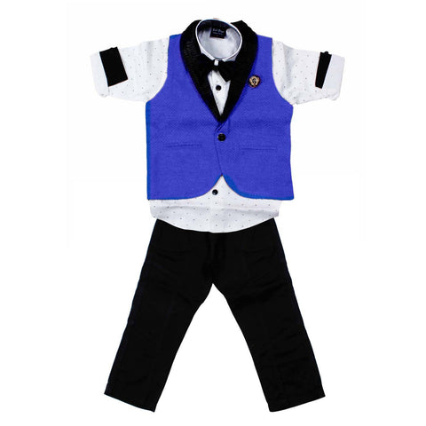Bad Boys Blue Waistcoat Party Set - KRAZYLA