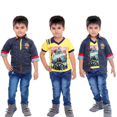 Bad Boys Maritime Yellow & Navy Set - KRAZYLA