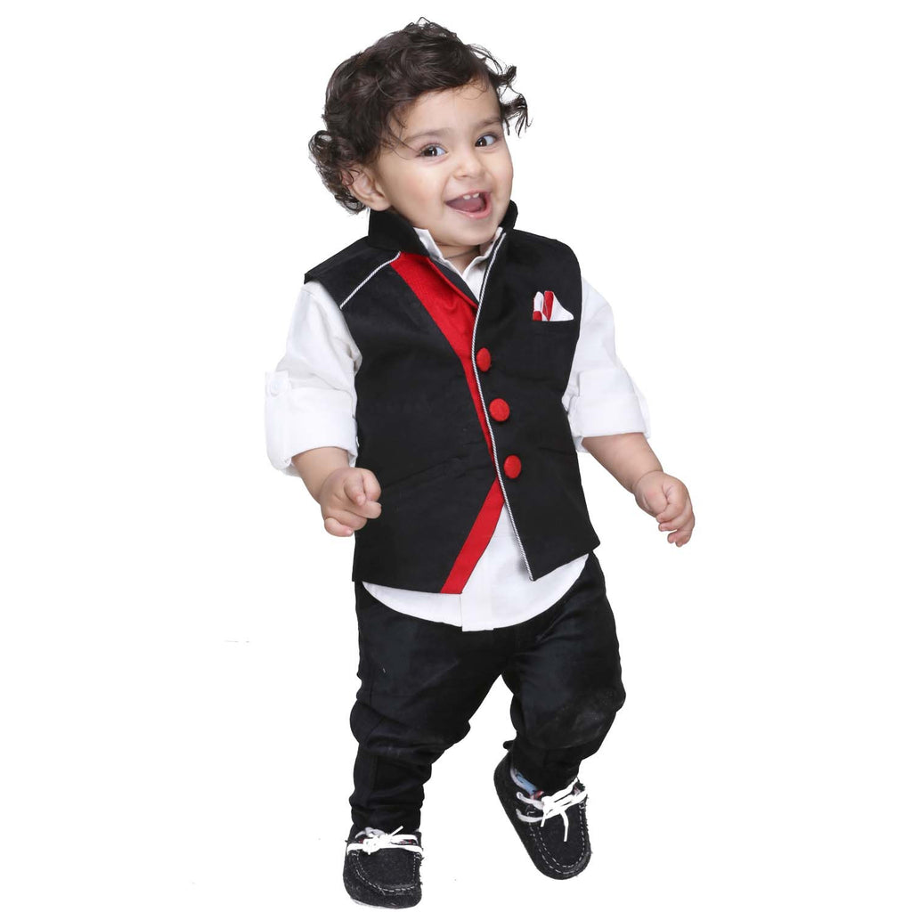 Bad Boys Black Designer Nehru Jacket Set - KRAZYLA