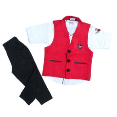 Bad Boys Classic Red Nehru Jacket Set - mashup boys