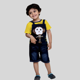 Bad Boys Stylish and casual Dungaree & T-shirt Set.