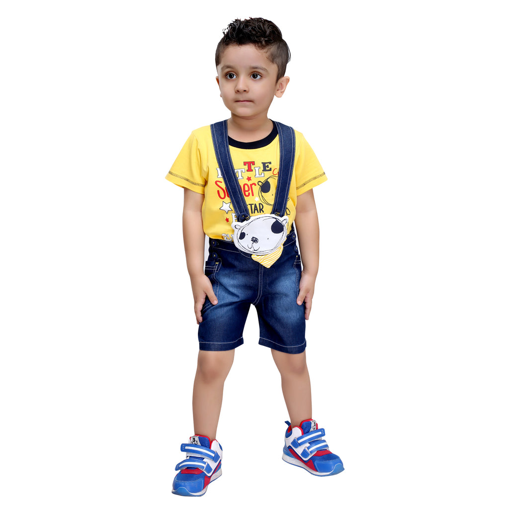 Bad Boys Little Star Dungaree Set - mashup boys