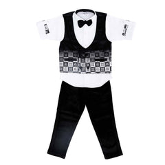 Bad Boys Printed Black Velvet Party Set - KRAZYLA
