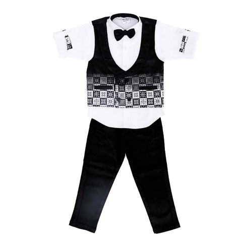 Bad Boys Printed Black Velvet Party Set - mashup boys