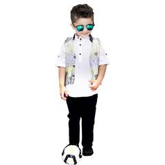 Bad Boys Yellow Digital Print Nehru Jacket Set - mashup boys
