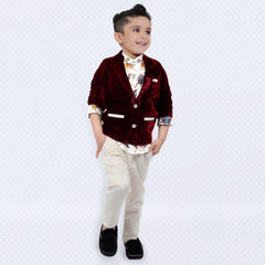 Bad Boys Ethnic Print Shirt with Blazer & Bottom - mashup boys