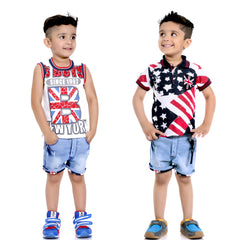 Bad Boys Stars & Stripes  Red Combo Set - KRAZYLA