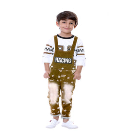 BROWN RACER DUNGAREE SET - KRAZYLA