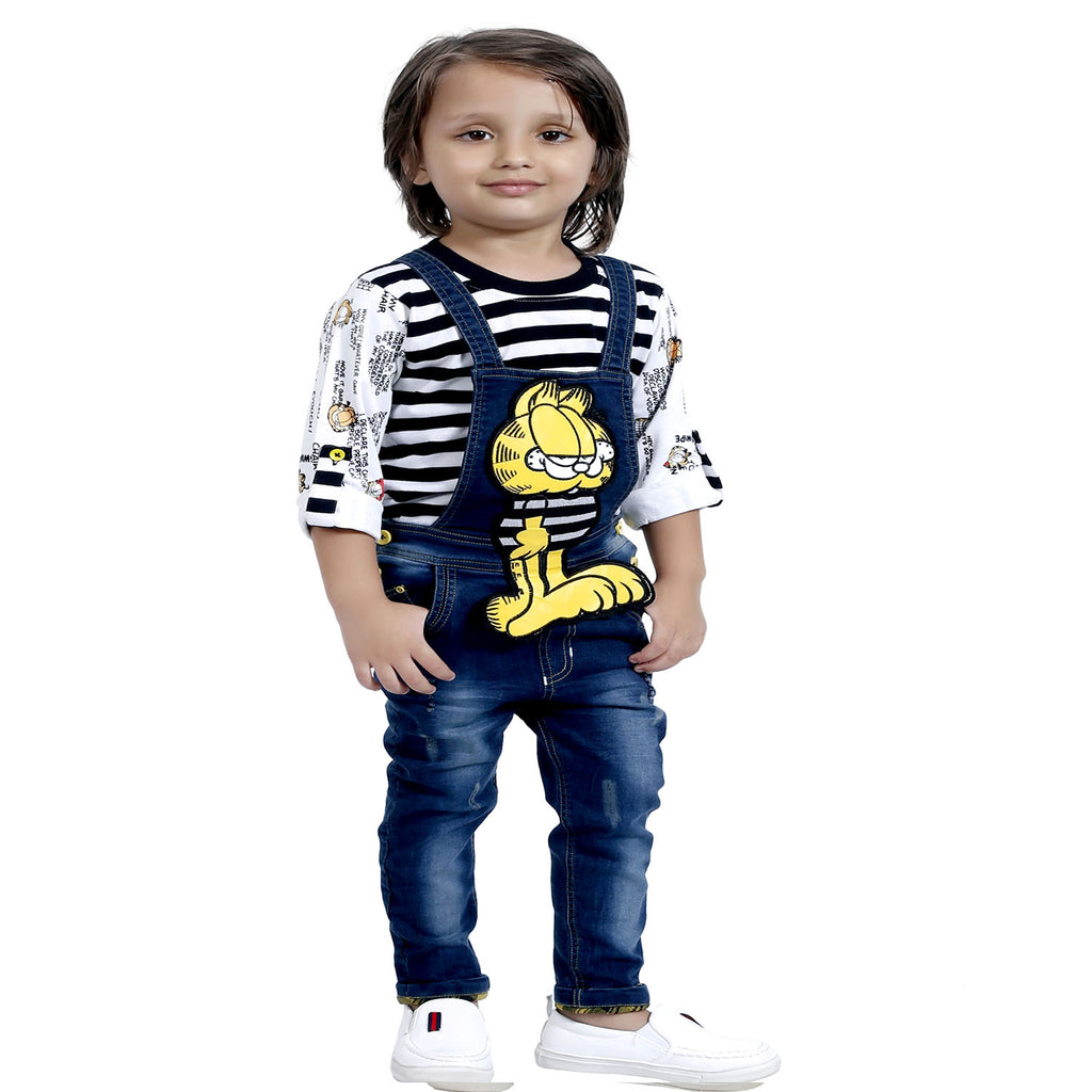 NAVY STRIPES DUNGREE SET - mashup boys