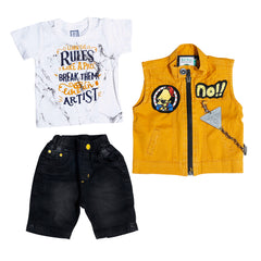 Bad Boys Mustard half jacket set. - mashup boys