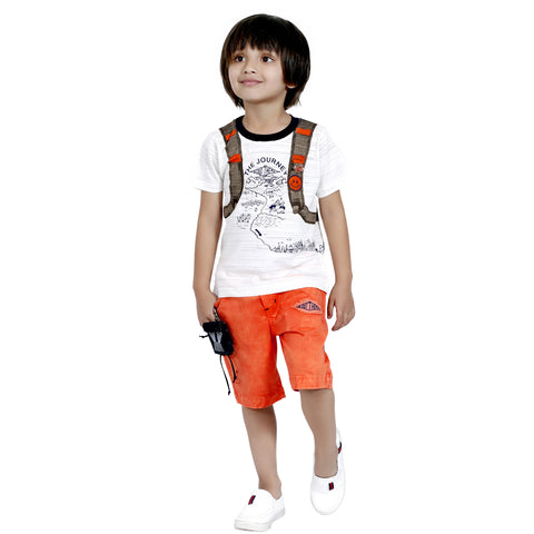 Bad Boys Casual Wear Outfit with Stylish T-shirt and Shorts - mashup boys