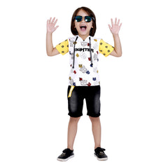 Bad Boys Stylish Outfit with Cotton T-shirt, Shorts and Hoodie - mashup boys