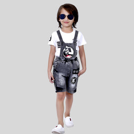 Bad Boys Super Comfy & Stylish Detachable Dungaree & T-shirt Set.