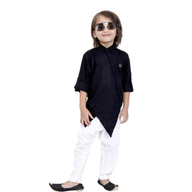 Bad Boys Black Modal Kurta salwar set. - KRAZYLA