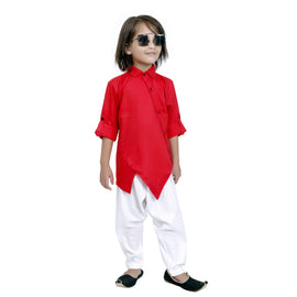 Bad Boys Red Modal Kurta salwar set. - KRAZYLA