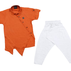 Bad Boys Orange Modal Kurta salwar set. - mashup boys