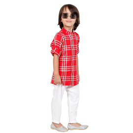 Bad boys plaid Kurta salwar set. - KRAZYLA