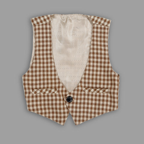 Bad Boys Party wear Outfits with Cotton T-shirt and Plaid Cotton Bottoms and Waistcoat - mashup boys