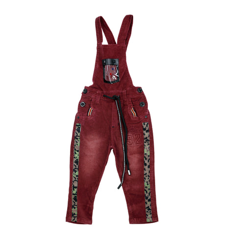 Bad Boys Maroon Dungaree Set - mashup boys