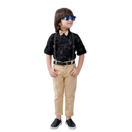 Bad Boys printed party Outfit with Suspenders and a Bow. - KRAZYLA
