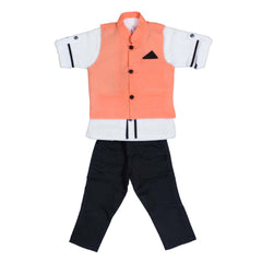 Bad Boys Neon Orange Nehru Jacket Set - mashup boys