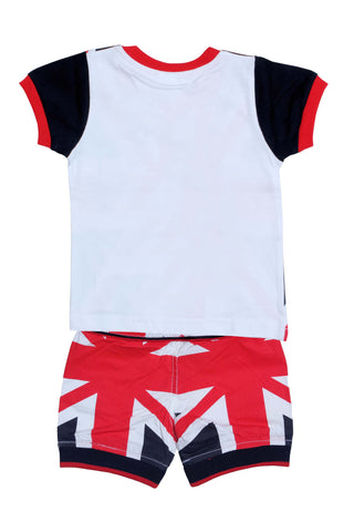 Boys Red and White Casual Set - mashup boys