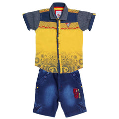Bad Boys Yellow Casual Shirt & Shorts Set - KRAZYLA