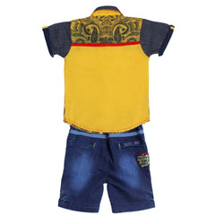 Bad Boys Yellow Casual Shirt & Shorts Set - mashup boys