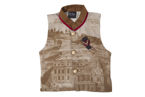 Bad Boys Gothic Print Nehru Jacket Set - mashup boys