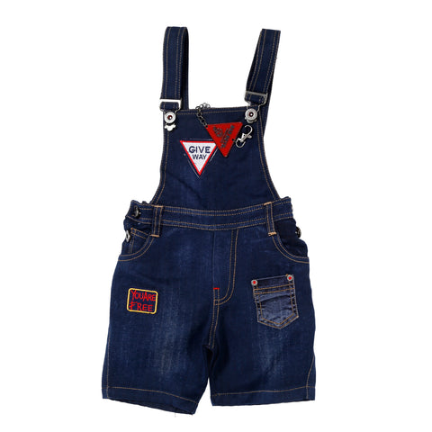 Bad Boys blue dungaree set. - mashup boys
