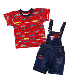 Bad Boys blue dungaree set. - MASHUP