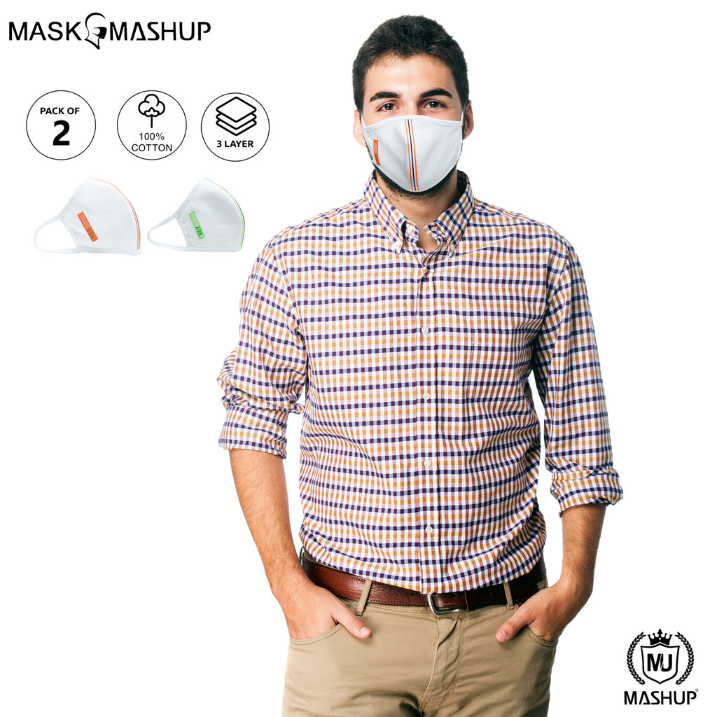 Mashup Fashion Mask,Washable Reusable 3 layer Protective mask (Pack of 2)(Adult)(Free Size) - mashup boys