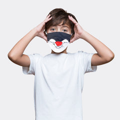MashUp Fun Mask,Sylvester the Cat Printed 3-layer Reusable Washable Protective Face Mask(Pack of 2)(Kids Size)(Universal Fit) - mashup boys