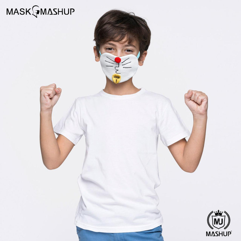 MashUp Fashion Mask,Washable Reusable 3-layer protective face mask(Kids Size)(Pack of 2) - mashup boys