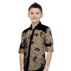 MashUp Floral Print Brown Shirt - KRAZYLA