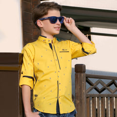 MashUp Yellow Designer Casual Shirt - KRAZYLA